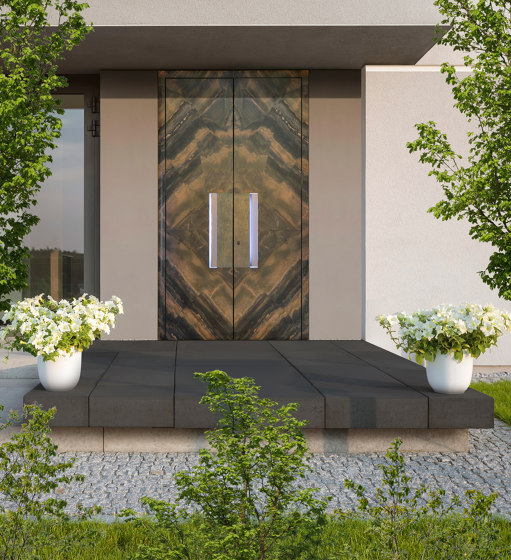 Modern front doors doors with special surfaces STONE by ComTür   Entrance doors