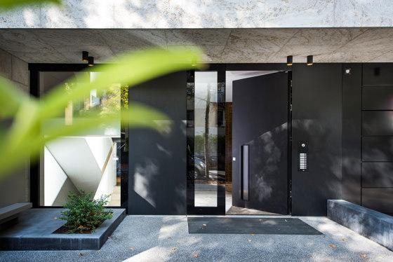 Modern front doors Design doors in black NATURA by ComTür   Entrance doors