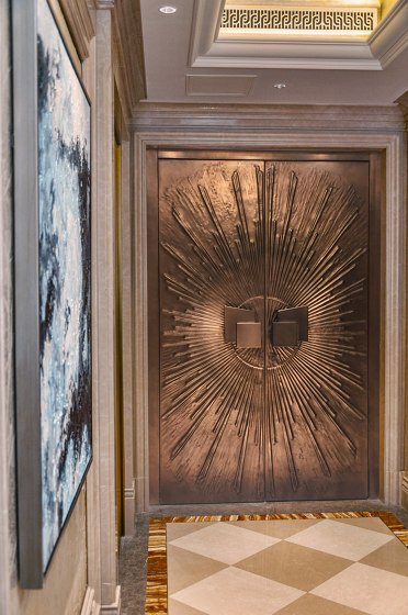 Style entrance doors doors with special surfaces COPPER by ComTür | Front doors