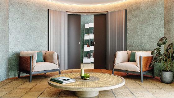 ARKIMEDE Curved sliding system by Ermetika | Internal doors