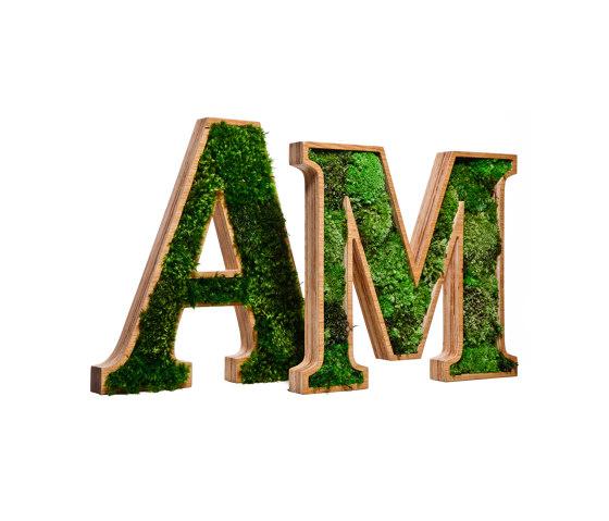 3D Letter Ball Moss by Ekomoss   Symbols / Signs