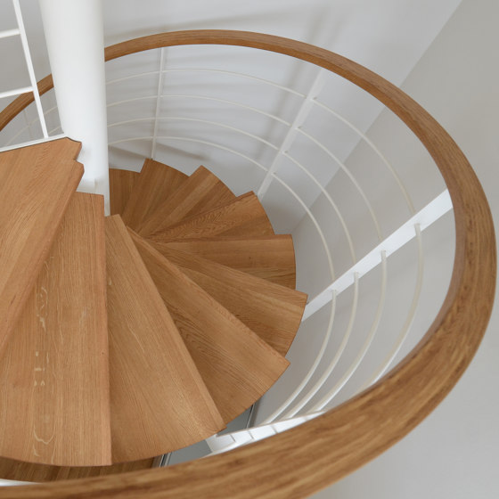 Filigree newel stairs in a private residence in Stuttgart by MetallArt Treppen | Staircase systems