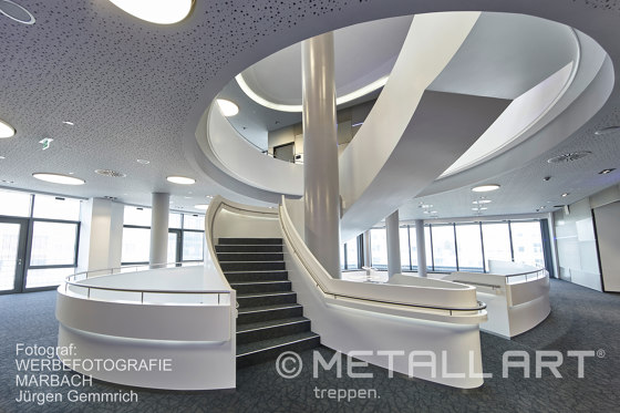 Imposing staircase sculpture at the WTZ III in Heilbronn by MetallArt Treppen | Staircase systems