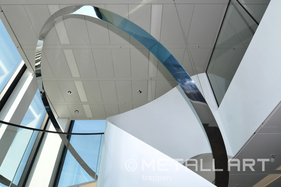 Extraordinary sculptural stairs in a Frankfurt office Tower by MetallArt Treppen | Staircase systems