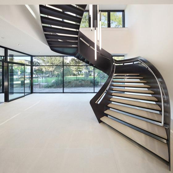 Steel stairs with exceptional balustade stringers at Haus der Wirtschaft in Darmstadt by MetallArt Treppen   Staircase systems