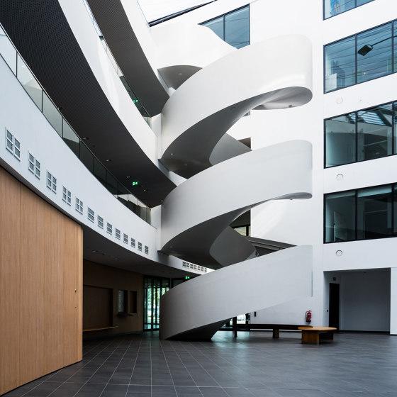 Exclusive atrium stairs at Lilienthalhaus in Braunschweig by MetallArt Treppen   Staircase systems