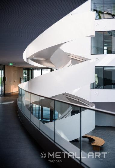 Exclusive atrium stairs at Lilienthalhaus in Braunschweig by MetallArt Treppen | Staircase systems