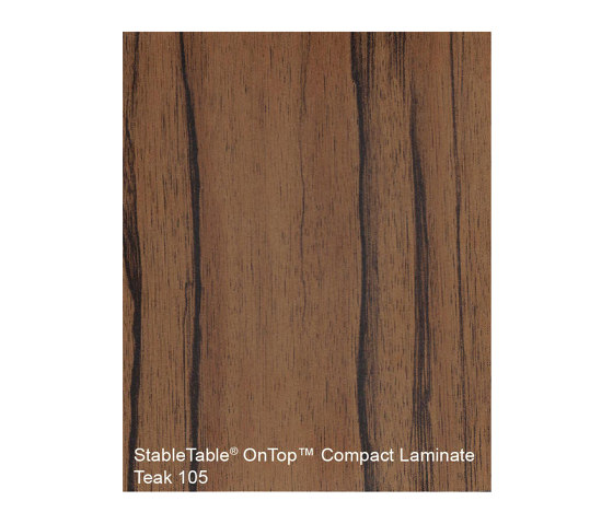 StableTable Compact Laminates   Teak - 105 by StableTable   Table accessories