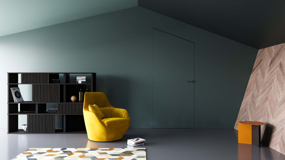 ABSOLUTE SWING Frameless swing door by Ermetika | Internal doors