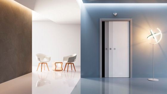 EVOLUTION MOTORISED Classic sliding system by Ermetika | Internal doors