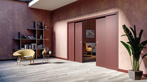 STAFFETTA Classic sliding system for overlapping panels by Ermetika | Internal doors