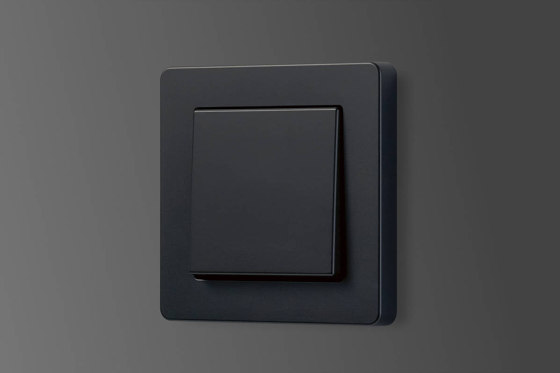 A Flow | switch matt graphite black by JUNG | Push-button switches