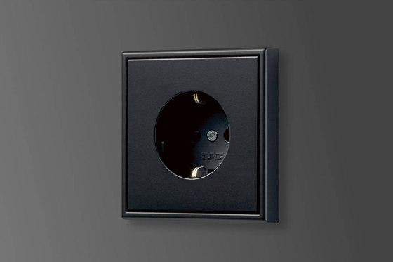 LS 990 | F 40 push-button sensor matt graphite black by JUNG | Push-button switches