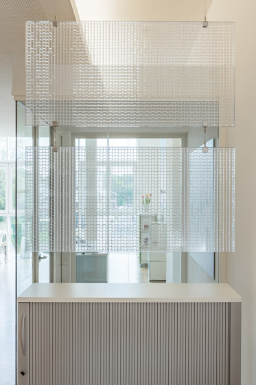Lightscreen   Baffle set by objectiv   Sound absorbing room divider