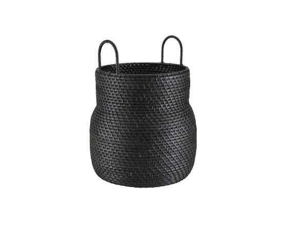 Baskets: Along   Basket High Version Black by Ligne Roset   Storage boxes