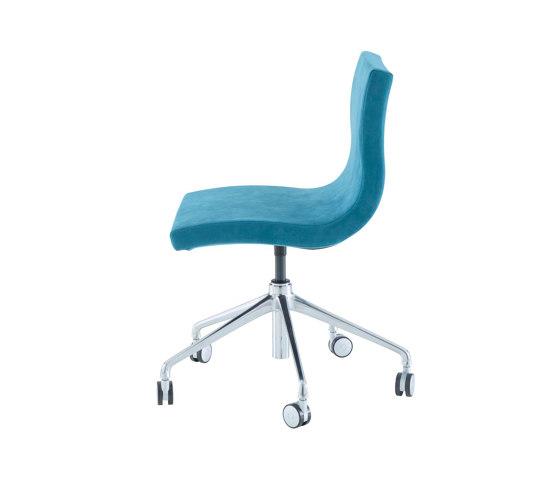 Sala | Desk Chair Aluminium Base On Castors by Ligne Roset | Chairs