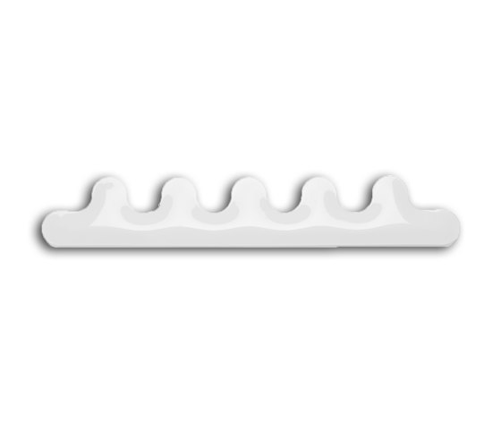Kamm Hanger 5 White by Zieta | Hook rails