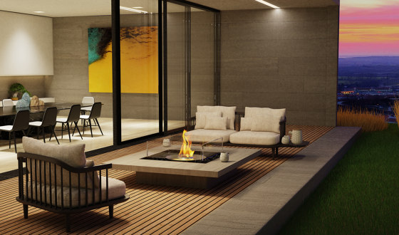 Square 22 by EcoSmart Fire | Ventless fires