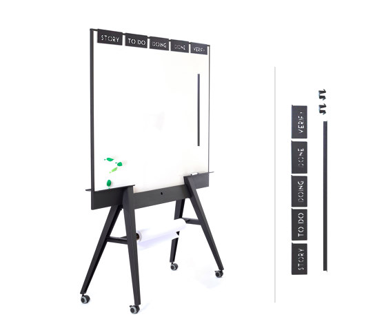 UIL scrum whiteboard + scrumset by StudioVIX | Flip charts / Writing boards