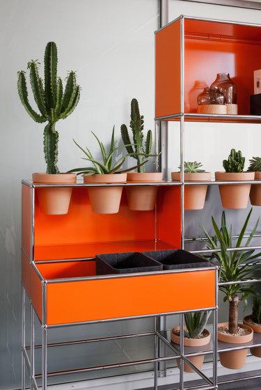 USM Haller Media with World of Plants   Pure Orange by USM   Multimedia sideboards
