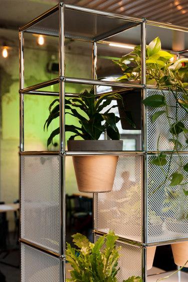 USM Haller Shelving with World of Plants | Light Gray by USM | Shelving