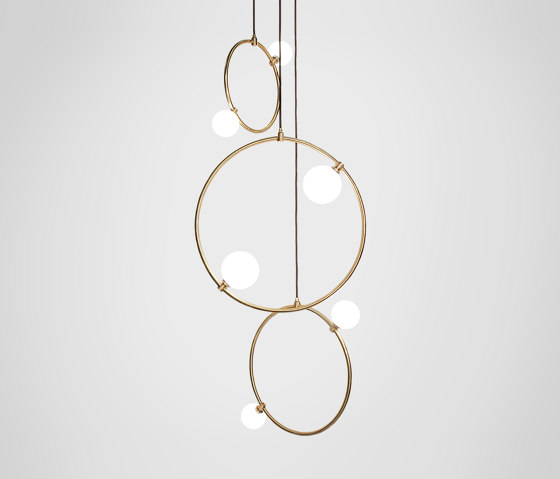 Drops Cluster - 3 Piece by Marc Wood Studio   Suspended lights