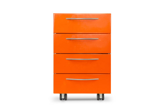 Health / hospital | Orange drawer set by AGMA | Pedestals