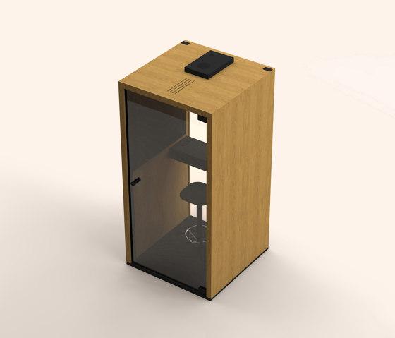 Lohko Box 1 Oak by Taiga Concept   Telephone booths