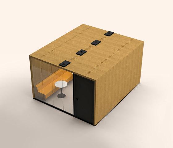 Lohko Flex 14 Oak by Taiga Concept   Office Pods