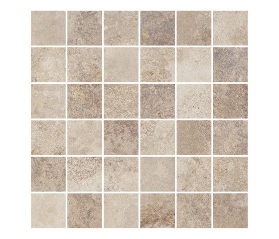 BELFORT sand 5x5 by Ceramic District | Ceramic mosaics