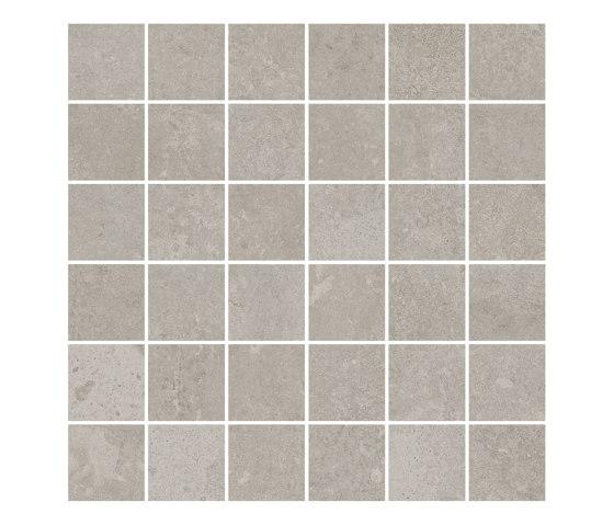 TECNO SCORE grey 5x5 by Ceramic District | Ceramic mosaics