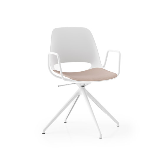 Saint 4 Star Swivel with arms and upholstered seat pad by Boss Design   Chairs
