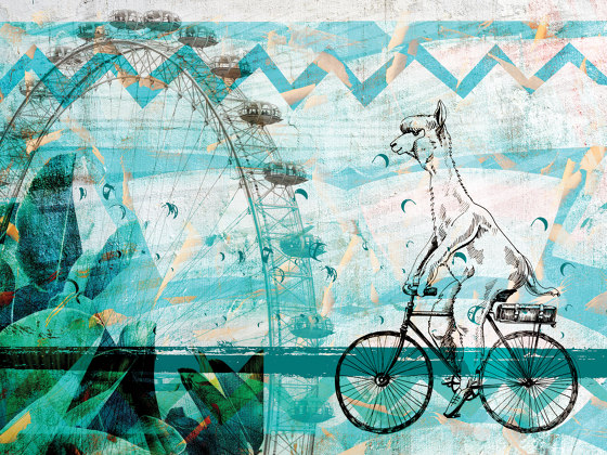 Learning to admire   La-la-lama_electric by Walls beyond   Wall coverings / wallpapers