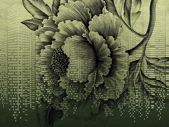 Tender is the urban | Urban flower_gold by Walls beyond | Wall coverings / wallpapers