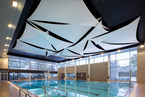 Swimmingpool Ceilings by Koch Membranen | Acoustic ceiling systems