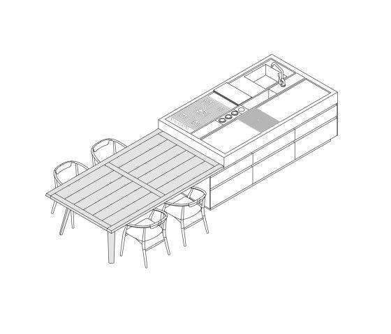 Convivium, Modus Doors System by Arclinea | Island kitchens