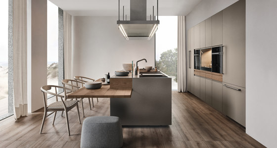 Convivium, built-in snack bar by Arclinea | Island kitchens