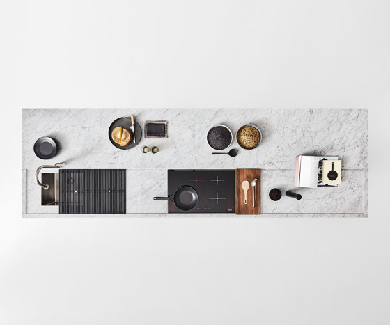 Worktop with recess 12 mm by Arclinea | Kitchen organization