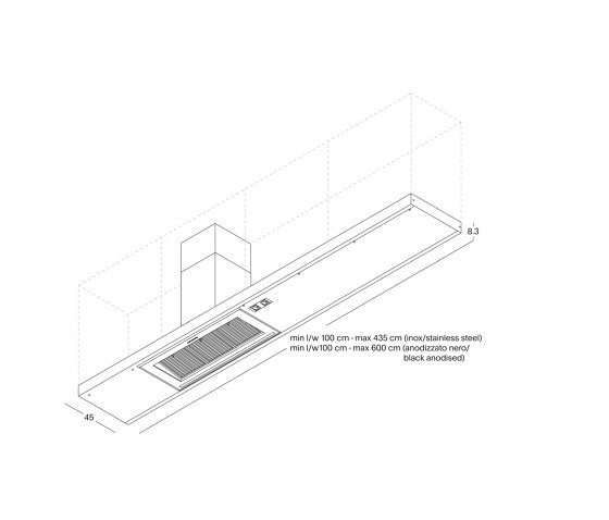 Mensoluce Shelf by Arclinea   Kitchen hoods