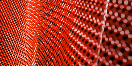 alphamesh 12.0 RAL3001 signal red by alphamesh | Metal meshes