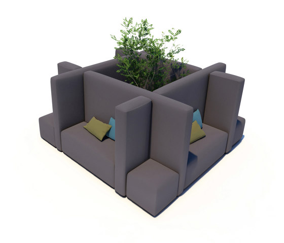 Office System | Office Cube S by IKONO | Seating islands