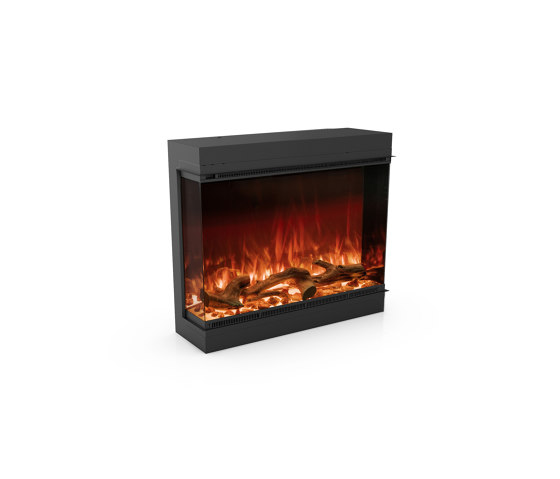 Astro 850 Left Corner by Planika   Fireplace inserts