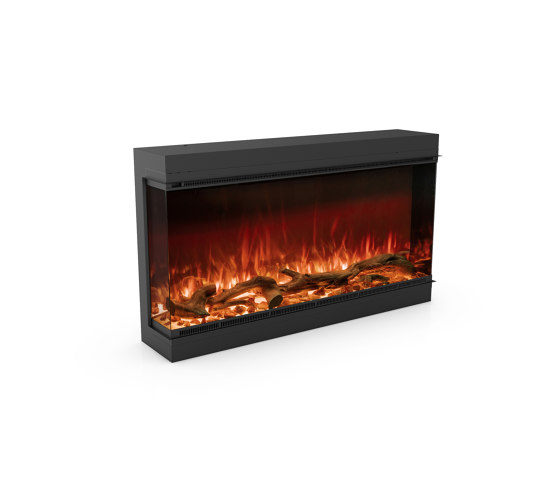 Astro 1200 Left Corner by Planika | Fireplace inserts