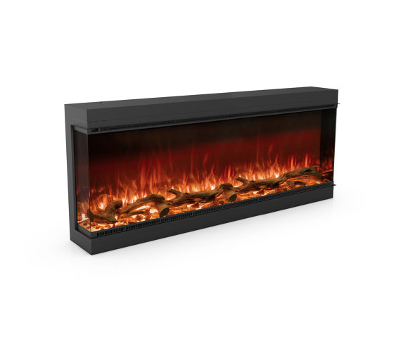 Astro 1500 Left Corner by Planika   Fireplace inserts
