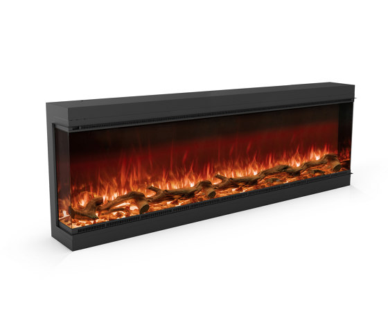 Astro 1800 Left Corner by Planika | Fireplace inserts