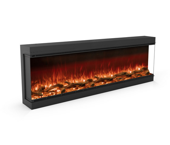 Astro 1800 Right Corner by Planika | Fireplace inserts