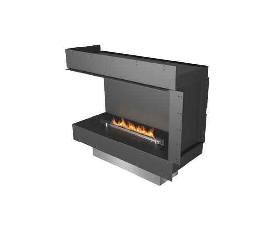 Forma 1000 Left Corner by Planika | Fireplace inserts