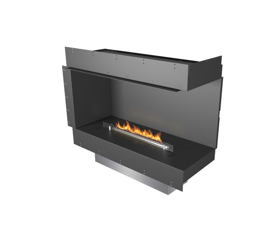 Forma 1000 Right Corner by Planika | Fireplace inserts