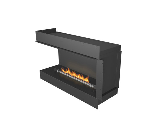 Forma 1200 Left Corner by Planika | Fireplace inserts