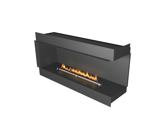 Forma 1500 Right Corner by Planika | Fireplace inserts